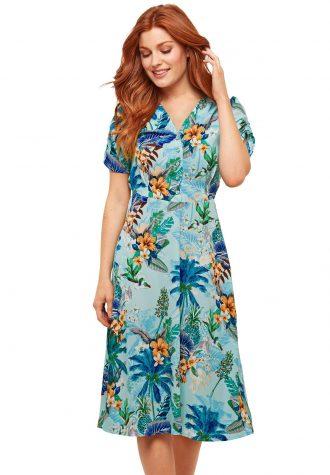 dámské modré šaty se vzorem Joe Browns