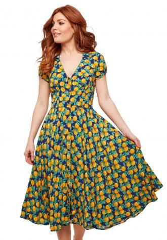 dámské zelené šaty se vzorem Joe Browns