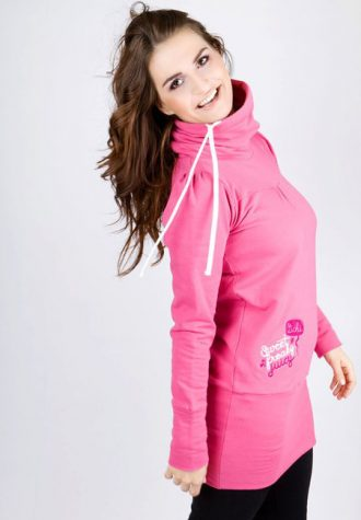 dámská růžová mikina s potiskem Lichi