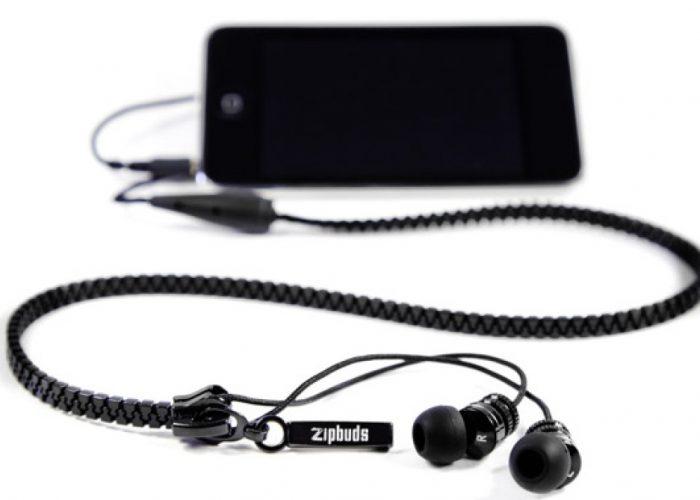 sluchátka na zip Zipbuds