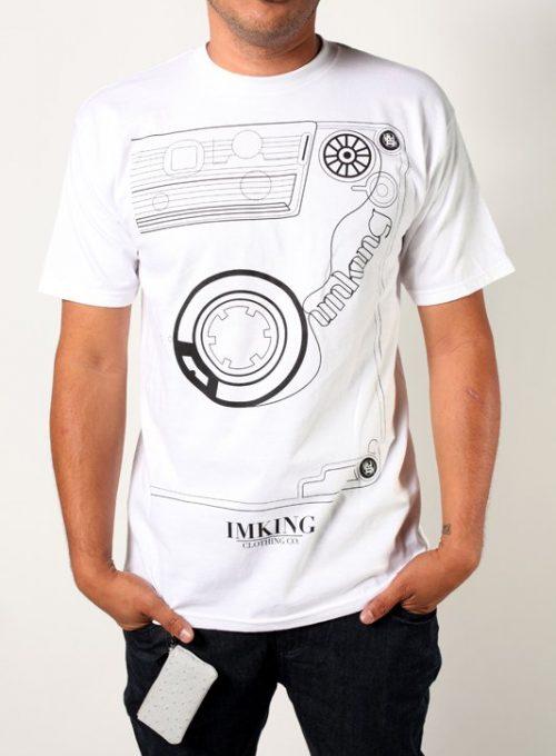pánské bílé tričko s potiskem Mixtape ($ 18)