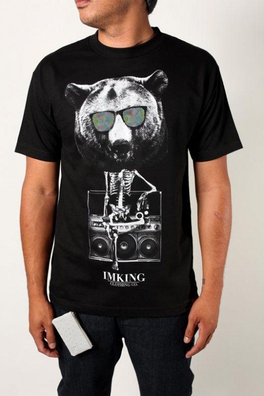 pánské černé tričko s potiskem Bearbot ($ 26,95)