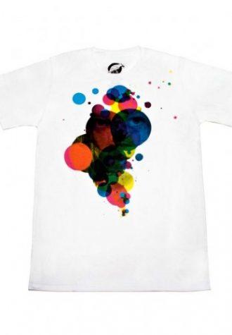 pánské bílé triko CMYK Inside od Ardentees