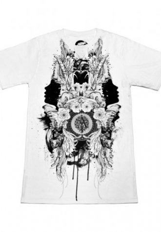 pánské bílé triko Is This Truely Wonderland od Ardentees