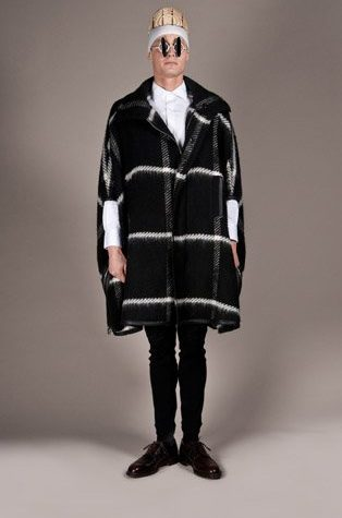 pánský černobílý kabát Henry Vibskov