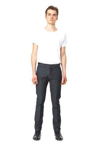 pánské bílé triko a šedé kalhoty Hope