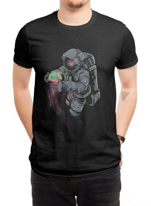 pánské černé tričko Jellyspace