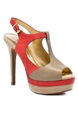 oranžovo-béžové střevíčky Jessica Simpson, typ Elso (89.99 USD)