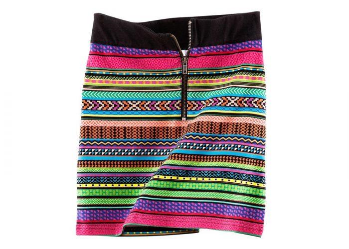 dámská barevná sukně se vzorem H&M
