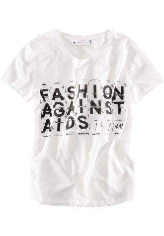dámské bílé triko s potiskem H&M