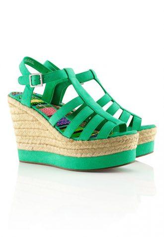 dámské zelené platformy H&M