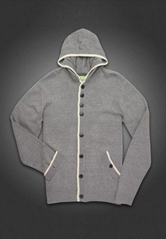 pánský šedý cardigan Gio-Goi (£64.99)