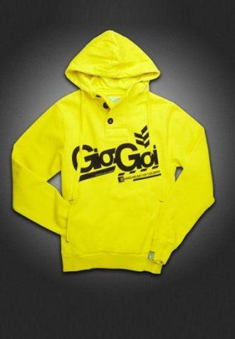 pánská žlutá mikina s černým logem Gio-Goi (£54.99)