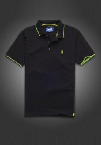 pánské černé polo triko Gio-Goi (£15.00)