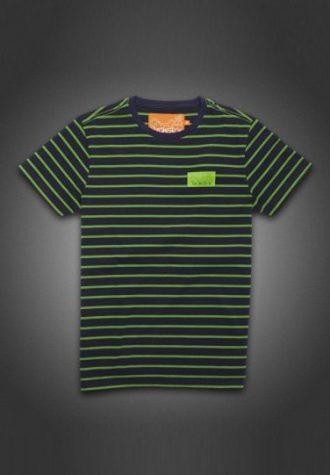 pánské černé triko se zeleným proužkem Gio-Goi (£29.99)