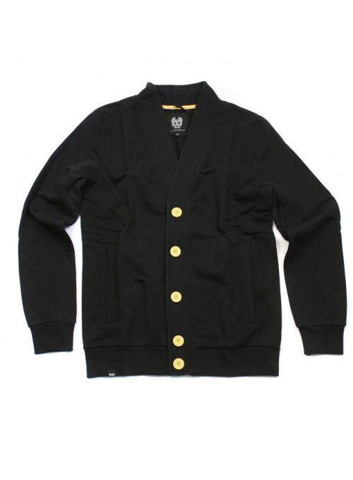 černý svetr na knoflíky (69 EUR)