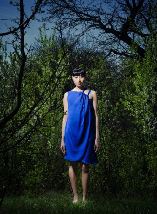 dámské modré šaty Gábina Páralová