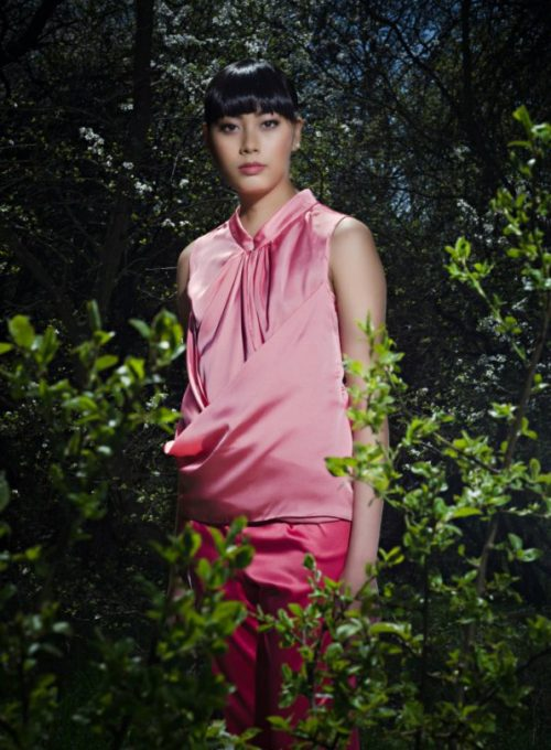 růžový top a kalhoty Gábina Páralová