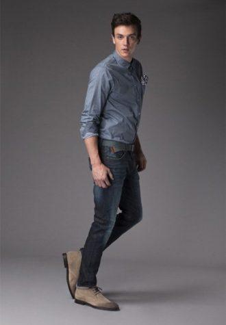 pánská džínová košile a modré džíny !ITEM