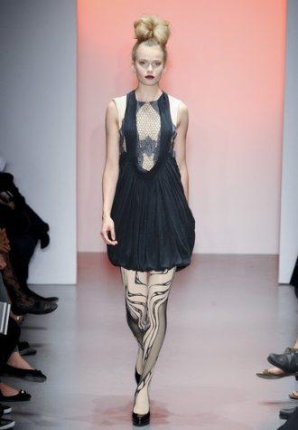 dámské černé šaty s krajkou BORA AKSU