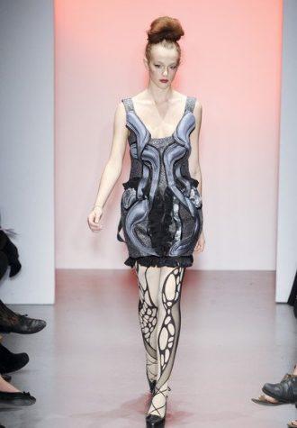 dámské stříbrno-šedé šaty s volánky BORA AKSU