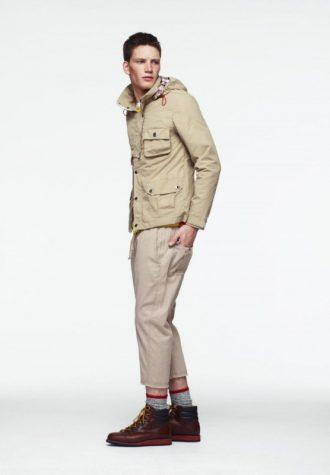 pánská béžová bunda a tříčtvrteční kalhoty ASOS
