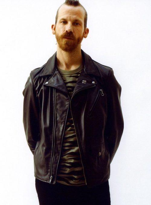 pánská černá kožená bunda Supreme