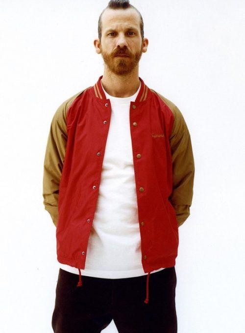 pánská červeno-hnědá sportovní bunda Supreme