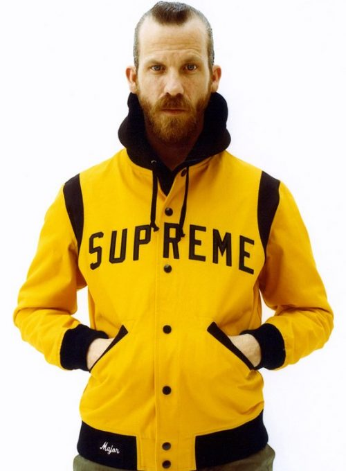 pánská žluto-černá bunda Supreme