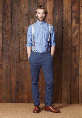 pánská džínová košile a modré kalhoty Ben Sherman