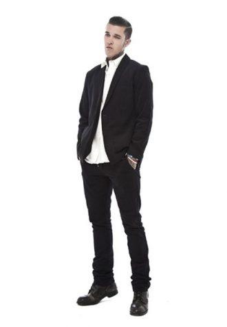 pánské černé sako, kalhoty a bílá košile Beautiful Fül