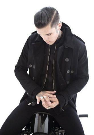 pánský černý kabát, košile a kalhoty Beautiful Fül
