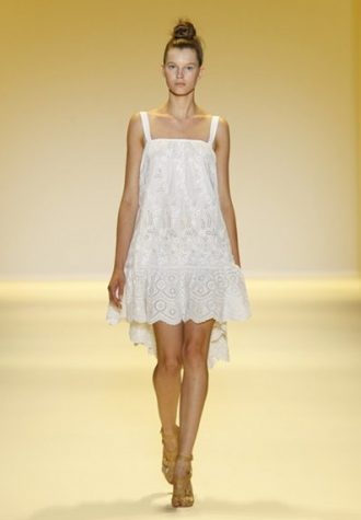 dámské krajkové bílé šaty AdamAdam