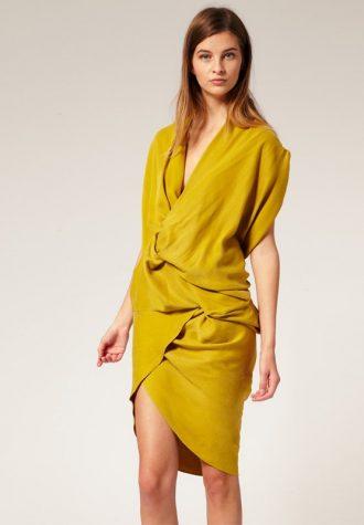 dámské okrové šaty ASOS (€ 57.69)