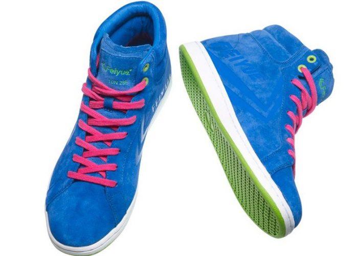 modré kotníčkové tenisky Feiyue, typ Suede Blue (€ 99)