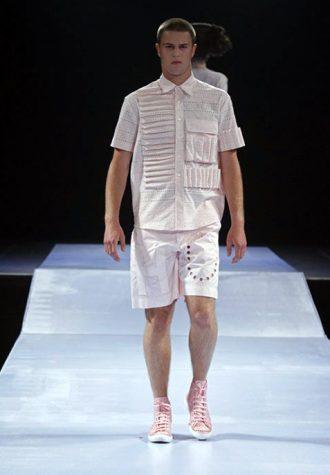 pánská světle béžová košile a šortky Walter Van Beirendonck
