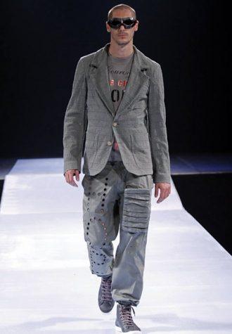pánské šedé sako a kalhoty Walter Van Beirendonck