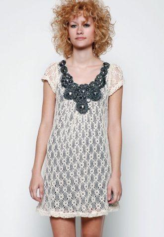 dámské bílé krajkové šaty Yumi (€ 49.90)