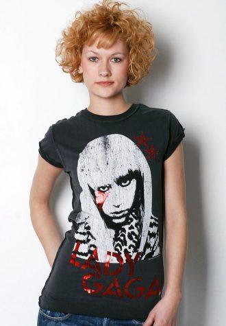 dámské černé tričko Lady Gag Amplified (€ 22.45)