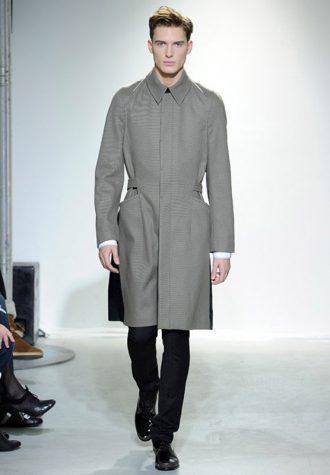 pánský světle šedý kabát Ehud
