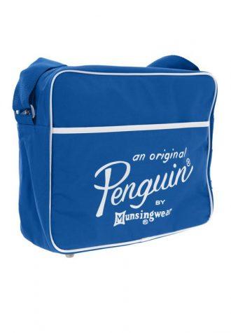 pánská modrá nylonová taška na vinyly Original Penguin (£19.99)