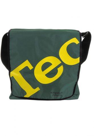 pánská šedo-žlutá taška na vinyly Technics (£21.50)