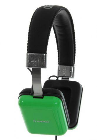 zelená čtvercová sluchátka Zumreed (£49.98)
