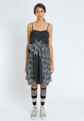 dámské černobílé šaty s nabíráním Eley Kishimoto