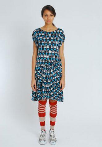 dámské letní šaty s tyrkysovým vzorem Eley Kishimoto