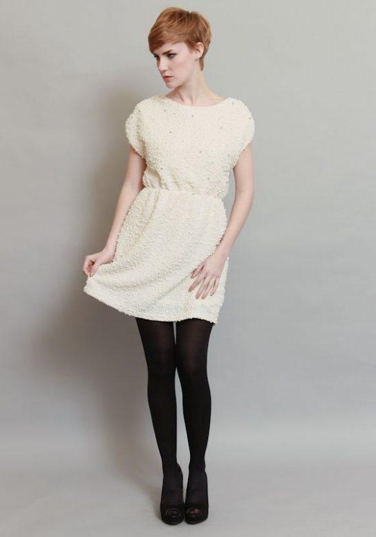dámské bílé krátké šaty (£ 52)