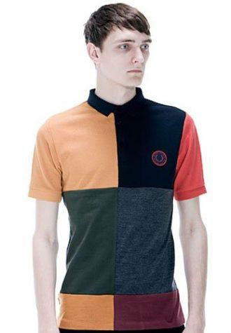 pánské barvné triko s límečkem Raf Simons for Fred Perry