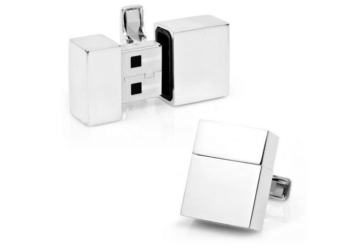 stříbrné USB manžetové knoflíčky CuffLinks ($ 195)