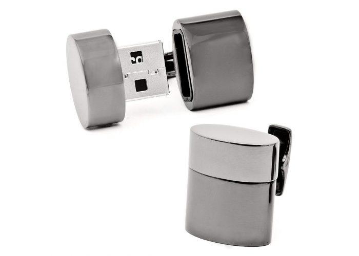 stříbrné USB manžetové knoflíčky CuffLinks ($ 225)
