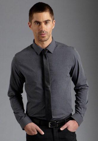 pánská šedá košile Burton (£17.60)